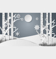 snowflakes for christmas day and forest vector image vector image