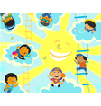 Solar camp for children vector image vector image