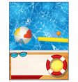 Swimming Pool Background Template vector image vector image