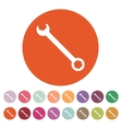 The wrench icon Settings symbol Flat vector image