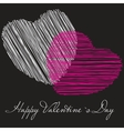 two valentines hearts valentines day day vector image
