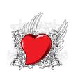 valentine heart emblem vector image vector image