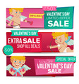 valentine s day sale banner february 14 vector image vector image