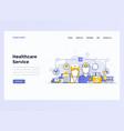 web design flat modern concept healthcare service vector image vector image