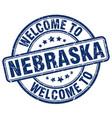 welcome to nebraska vector image vector image