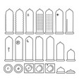 set of linear condom icons methods of vector image