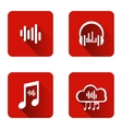 Set of icons for music streaming service vector image