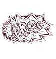 lettering free hand drawing black and white vector image