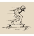 a guy who races on a skateboard in vector image vector image