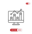 analytics icon vector image vector image