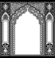 architectural arch in arabic or other eastern vector image vector image