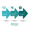 Arrow shape design vector image