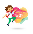 back to school sale banner for store and online vector image