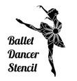 ballet dancer stencil vector image vector image