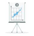 bitcoine quotation concept vector image vector image