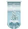 blue banner with Christmas trees vector image vector image