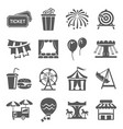 carnival and festival icon set event or vector image vector image