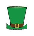 cartoon top hat saint patrick day symbol vector image vector image