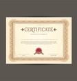 certificate design background 0203 vector image vector image