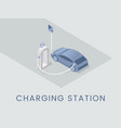 charging station flat banner template eco vector image vector image