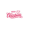 christmas lettering vector image vector image
