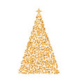 christmas tree circles xmas greeting card vector image vector image