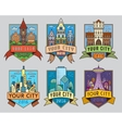 City badges1 color vector image vector image