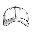 clean unlabelled textile baseball cap sketch vector image
