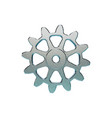 cogwheel isolated on white background vector image vector image