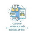 customer welcome emails concept icon greeting vector image vector image