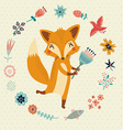 Cute foxy vector image vector image