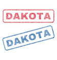 dakota textile stamps vector image vector image