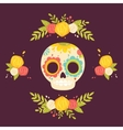 Day of the dead colorful vector image vector image