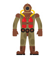 Diver old diving suit Retro clothing for scuba vector image vector image