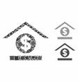 dollar bank composition icon raggy items vector image vector image