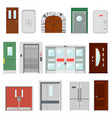 doors doorway front entrance lift entry or vector image vector image