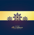 elegant premium merry christmas greeting design vector image