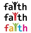 faith word vector image