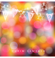 festive colorful greeting card invitation with vector image vector image