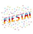 fiesta word performed in a pinata style vector image vector image