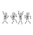 funny skeleton halloween cartoon vector image vector image