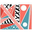 geometric pattern summer spring bright print for vector image vector image