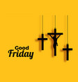 good friday and easter day cross background vector image vector image