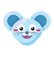 happy mouse emoji flat vector image