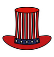 hat with usa flag isolated icon vector image