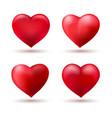 heart shape love balloons vector image vector image