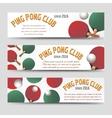 Horizontal ping pong banners vector image vector image