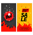 hot sale and hot offer banners set hot price and vector image vector image