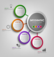 Info graphic with colored design circles poster vector image vector image