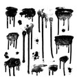 ink drops grunge paint design element set vector image vector image